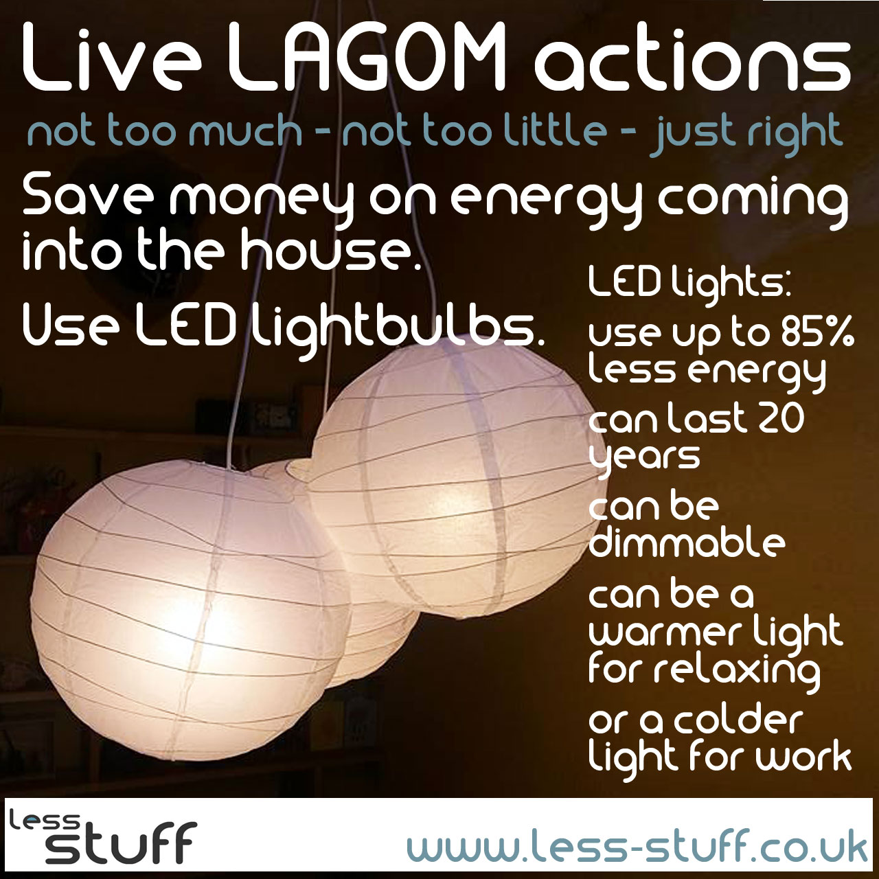 live lagom led lightbulbs save money