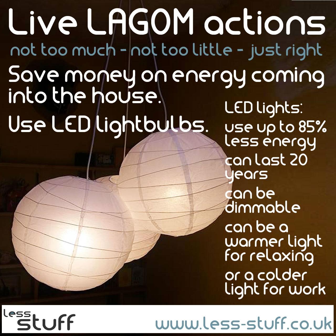 live lagom led lightbulbs save money