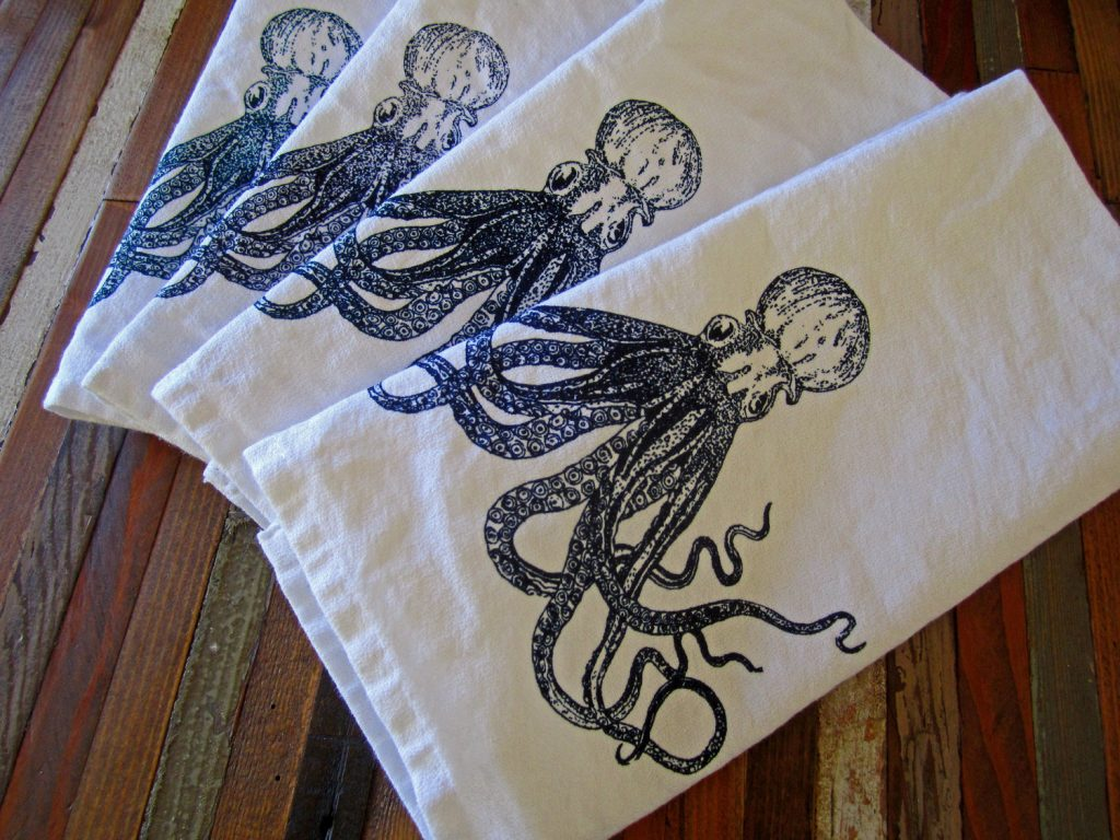 Octopus cloth napkin