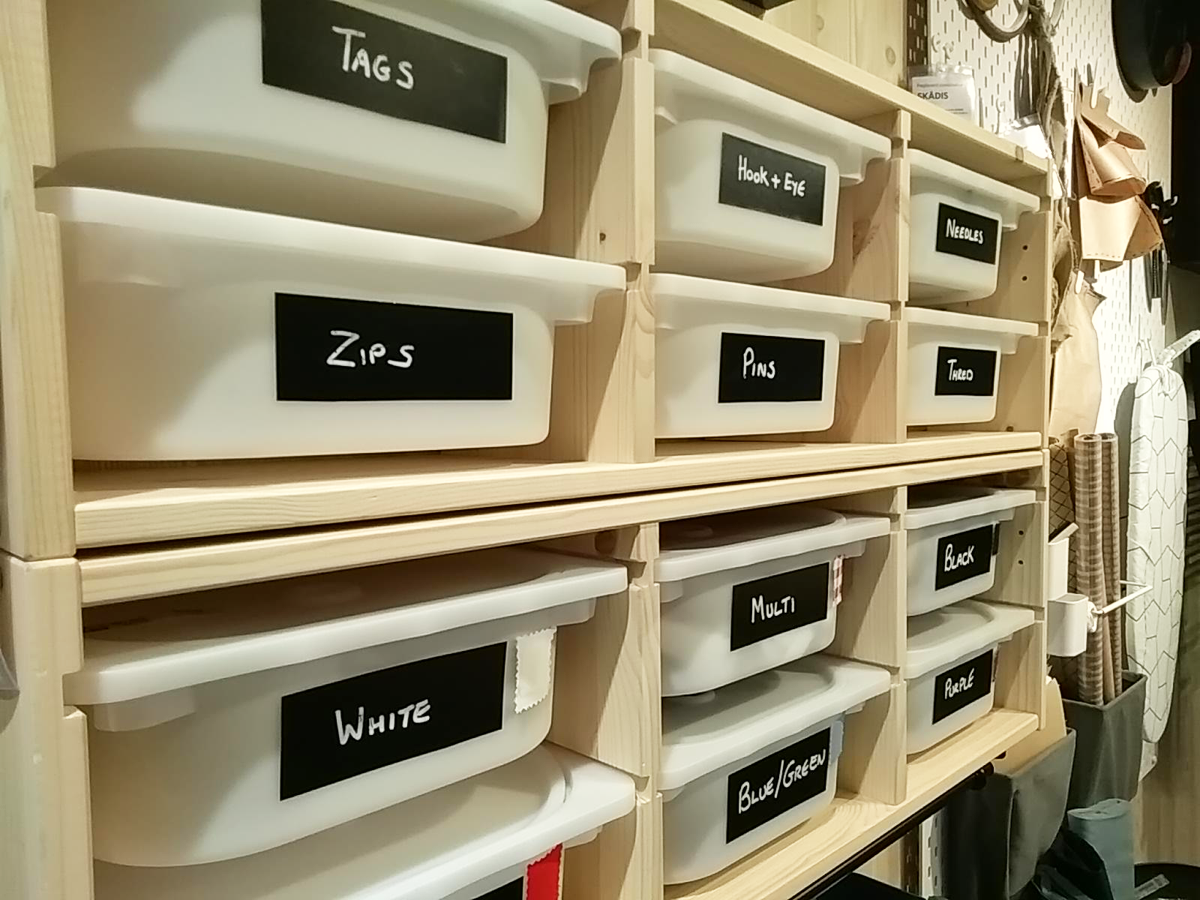 IKEA organised room