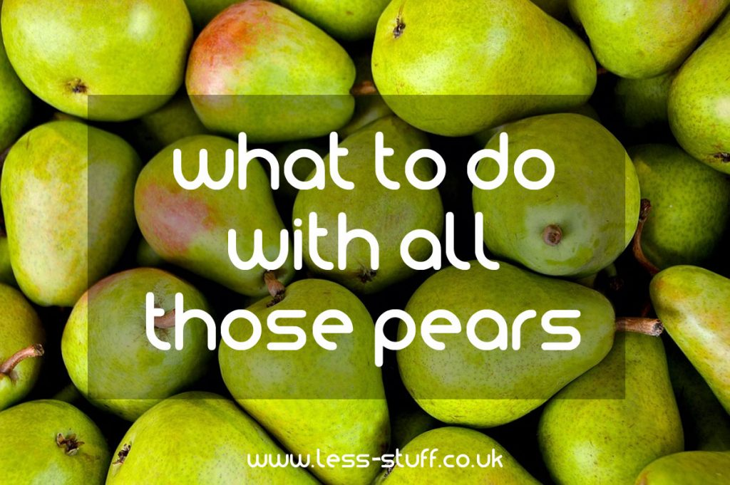 what to do with all those pears